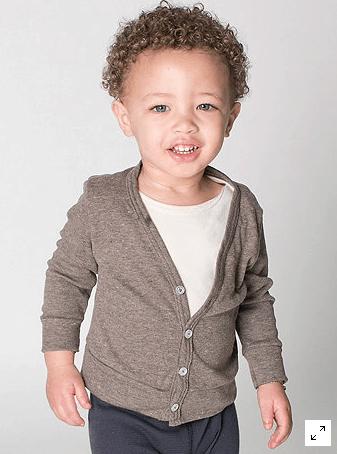 American Apparel Baby Cardigan