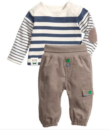 H&M Baby Boy Shirt & Pants Set