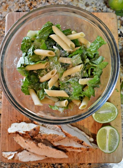 Lime Chicken Pasta Salad