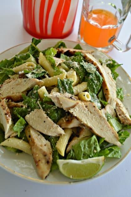 Lime Chicken Pasta Salad