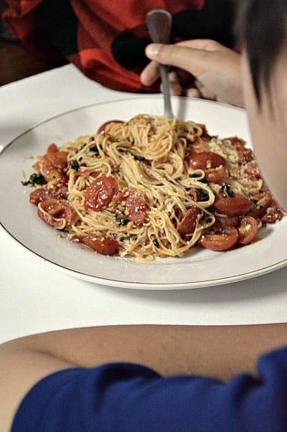Cappelini With Tomatoes & Basil