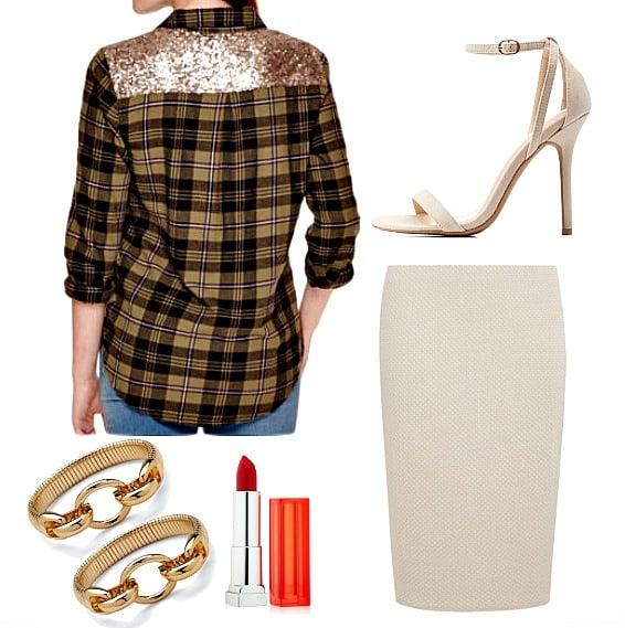 Three Ways To Style A Sequin & Plaid Shirt