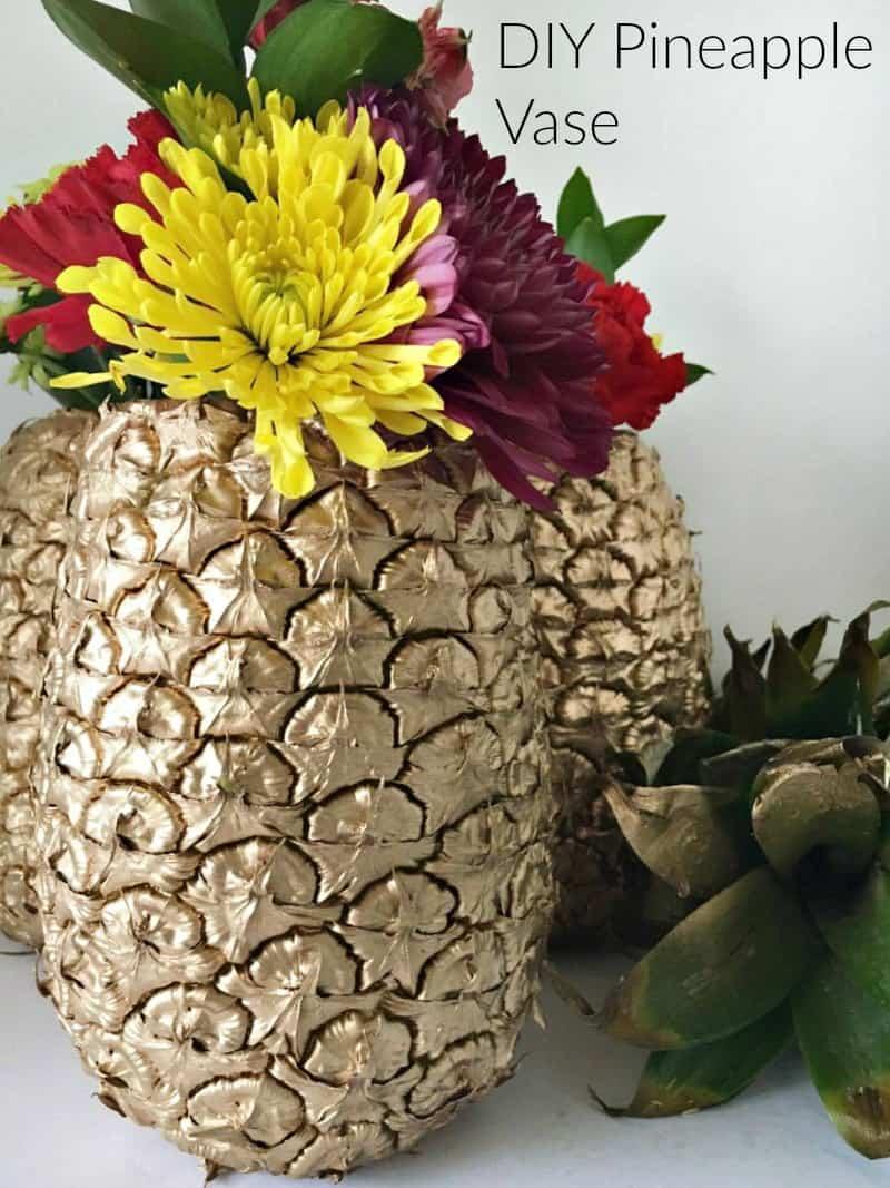 diy pineapple vase easy to make diy 39 s stylish cravings. Black Bedroom Furniture Sets. Home Design Ideas