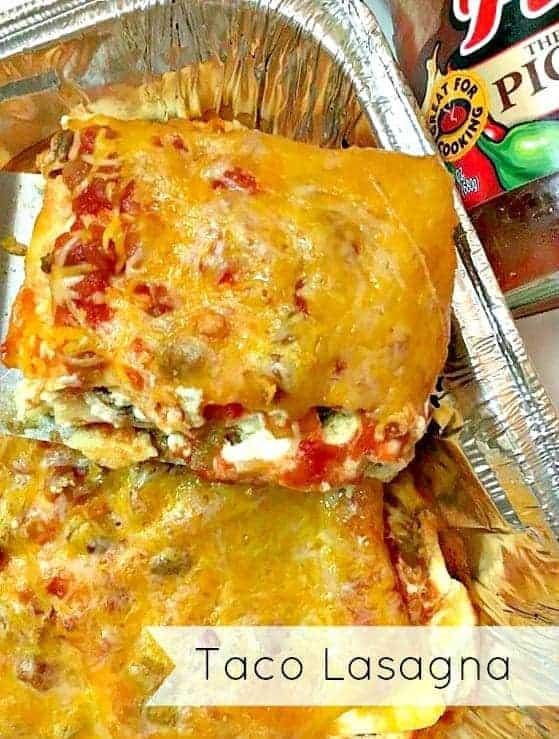 Easy To Make Taco lasagna