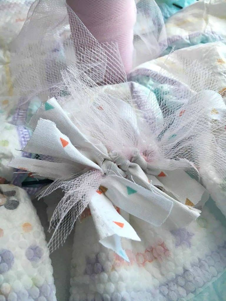 DIY Diaper Wreath