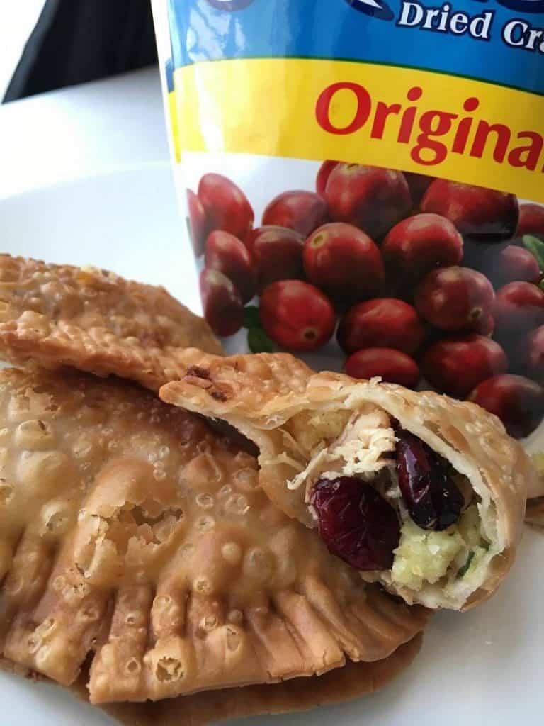 Turkey, Stuffing & Cranberry Empanadas