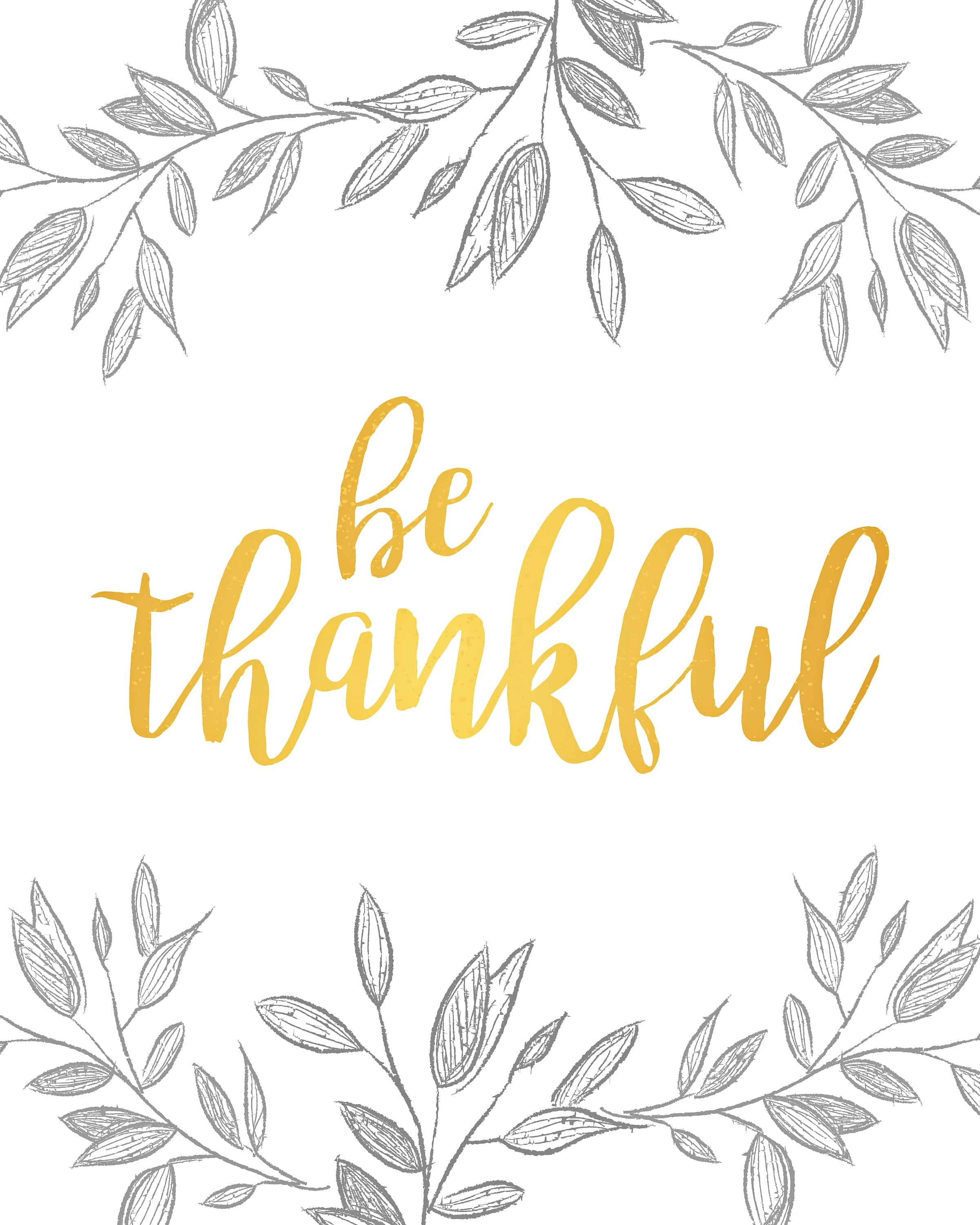 image about Thankful Printable identified as Absolutely free Thanksgiving Printable Wall Artwork - Classy Cravings