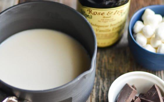 Homemade Bourbon Spiked Hot Chocolate