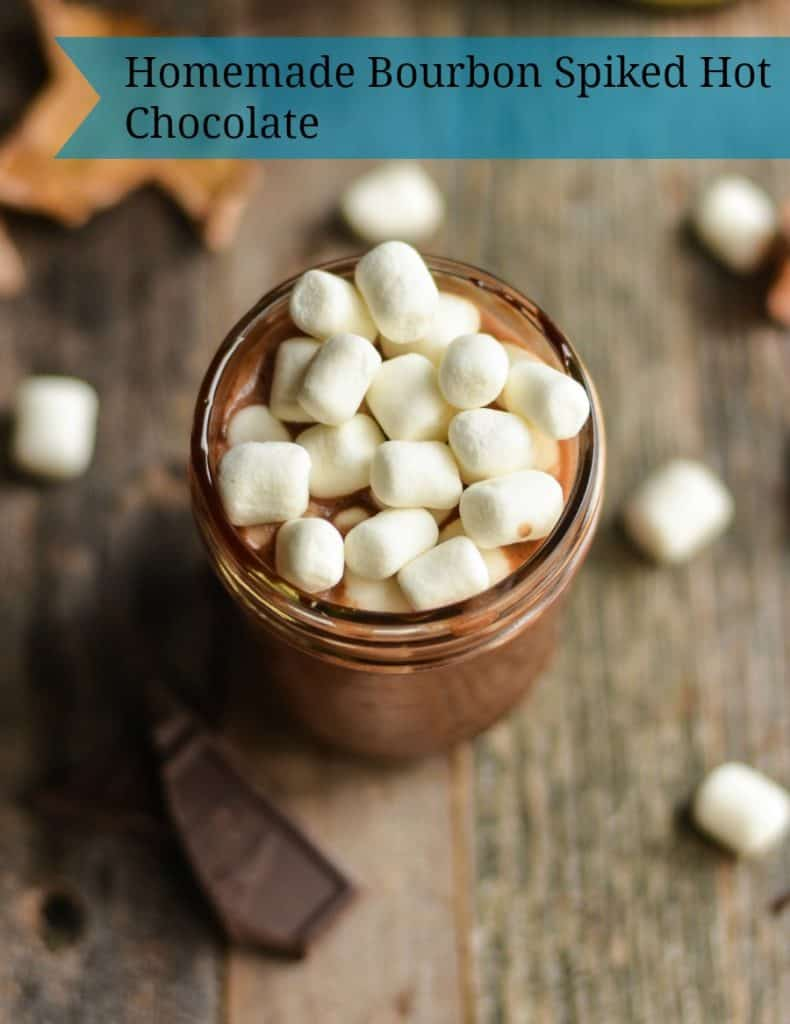 Homemade Bourbon Spiked Hot Chocolate