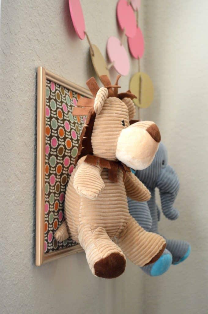 DIY Framed Stuffed Animal