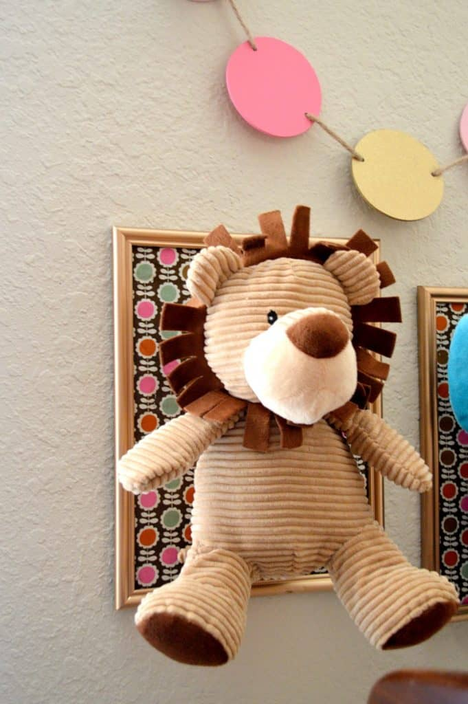 DIY Framed Stuffed Animal