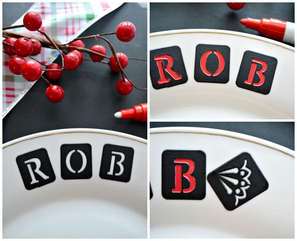 DIY Personalized Dinner Plate
