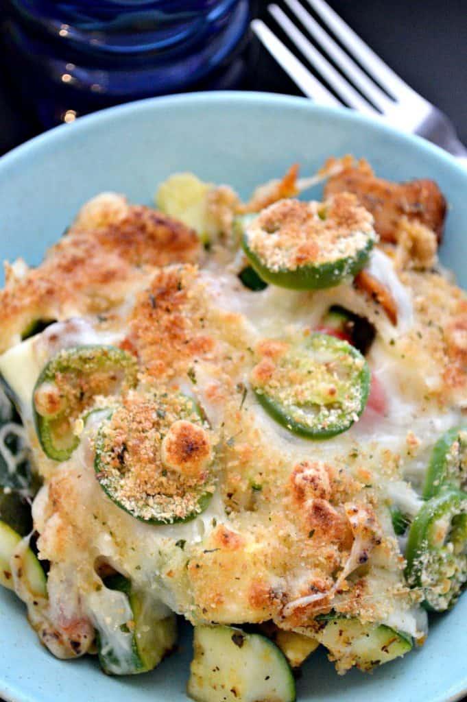 Jalapeño & Chicken Zucchini Casserole
