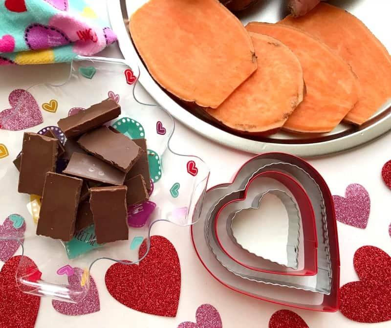 Chocolate Sweet Potato Hearts