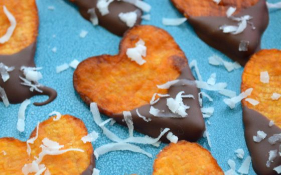 Chocolate Sweet Potato Hearts