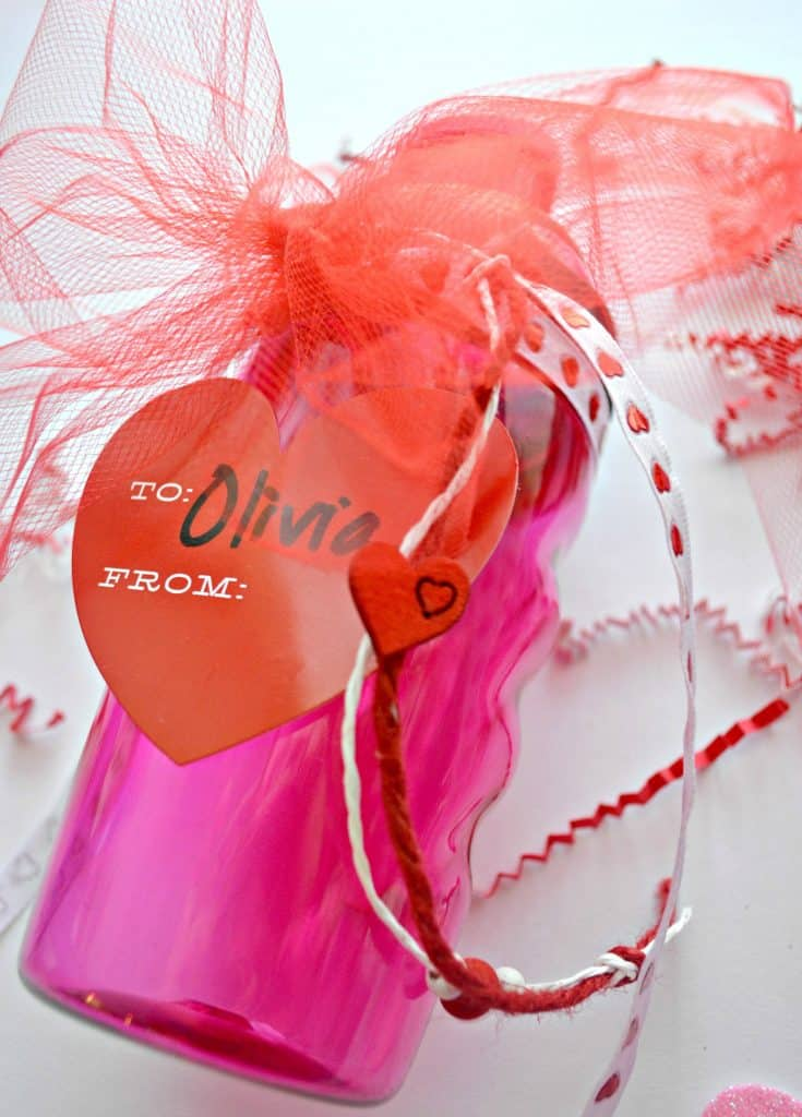 DIY Valentine's Day Water Bottles