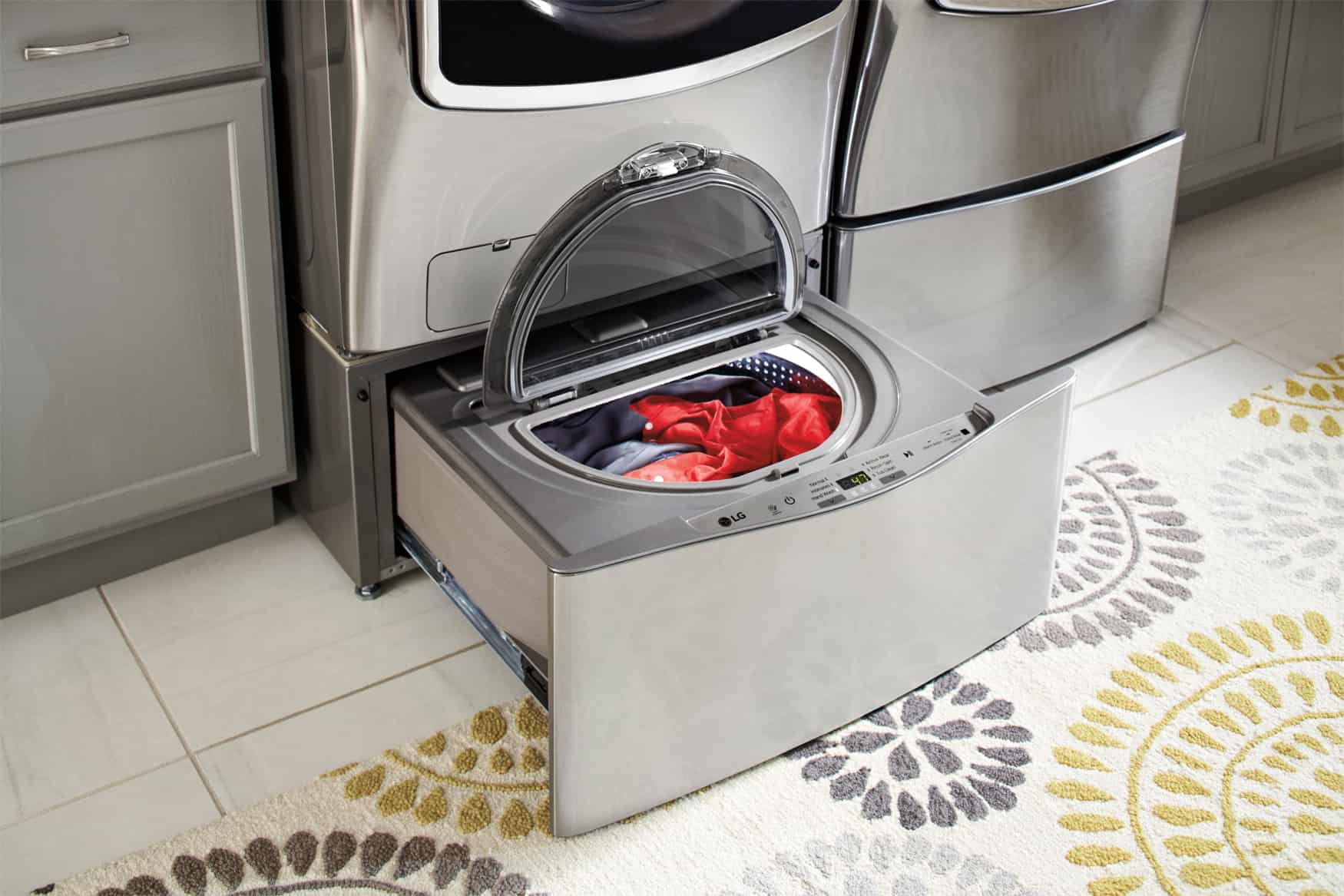 LG's Front Load Laundry Saves Time & Money With Two Loads at Once