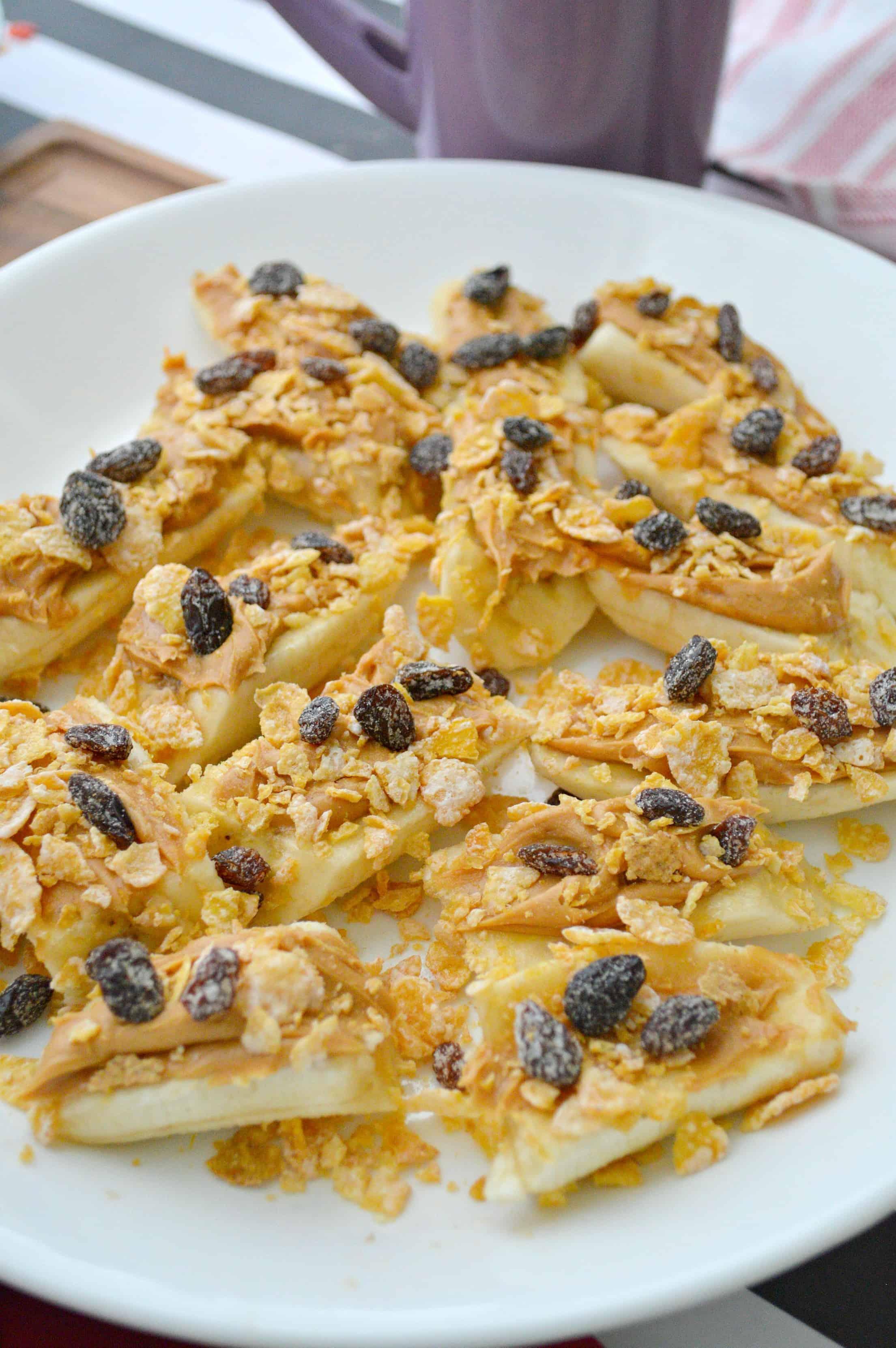 3 Ingredient Peanut Butter Banana Snack For Kids