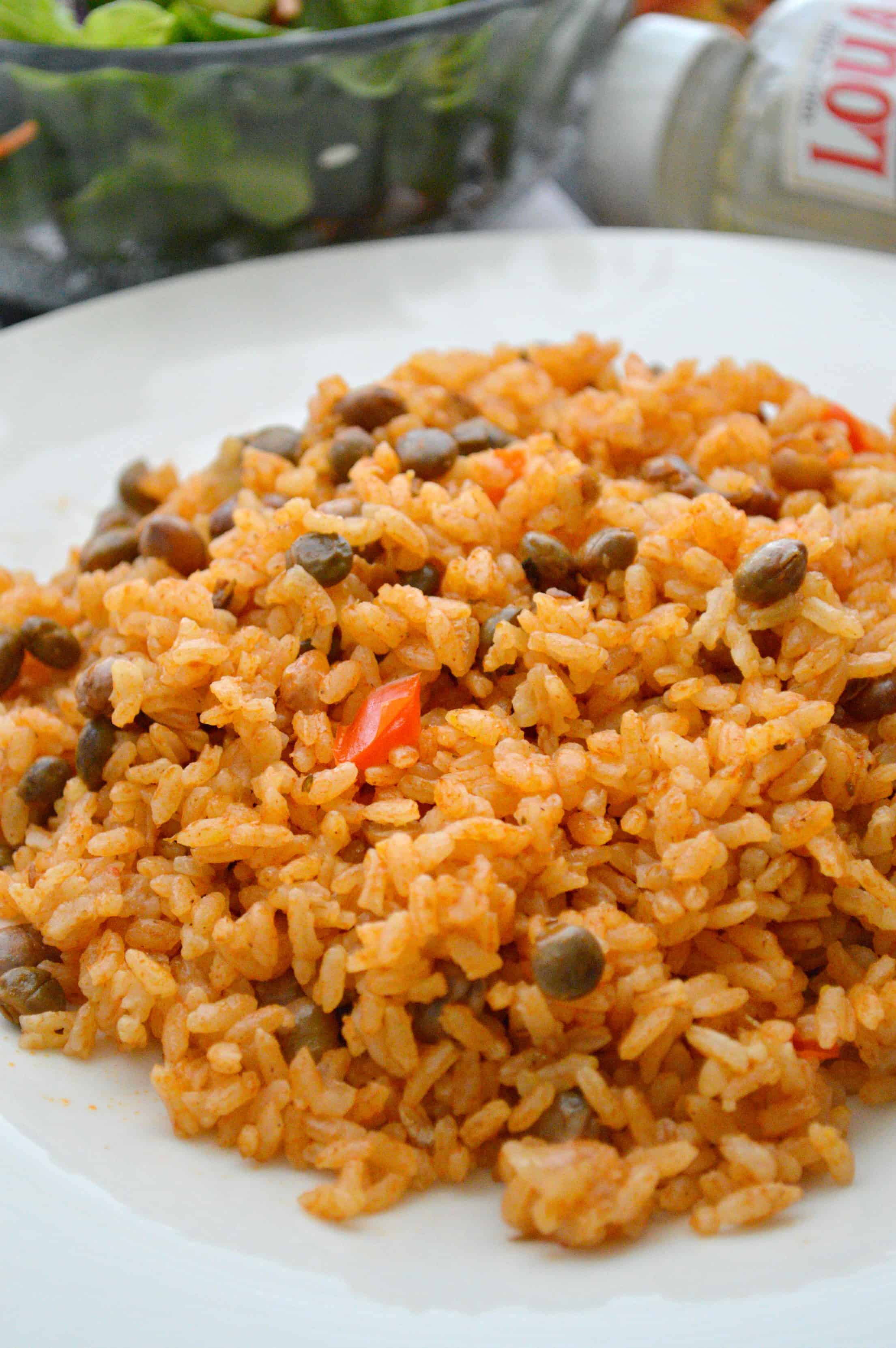 Quick & Easy To Make Arroz Con Gandule Using Liquid Coconut Oil