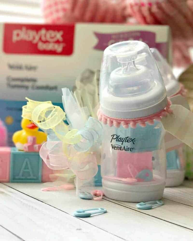 DIY Baby Bottle Place Card Holders