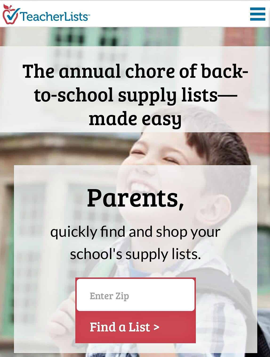 "TeacherLists.com was launched with my favorite adage ""work smarter, not harder""  to make back-to-school supply list shopping easy in just three simple steps"