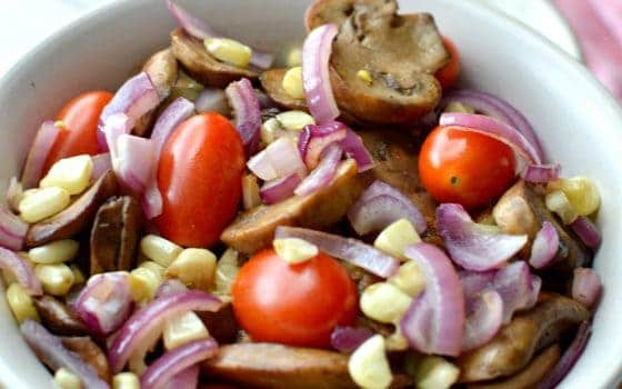 How I Get It All Done + Easy To Make Mushroom & Corn Salad