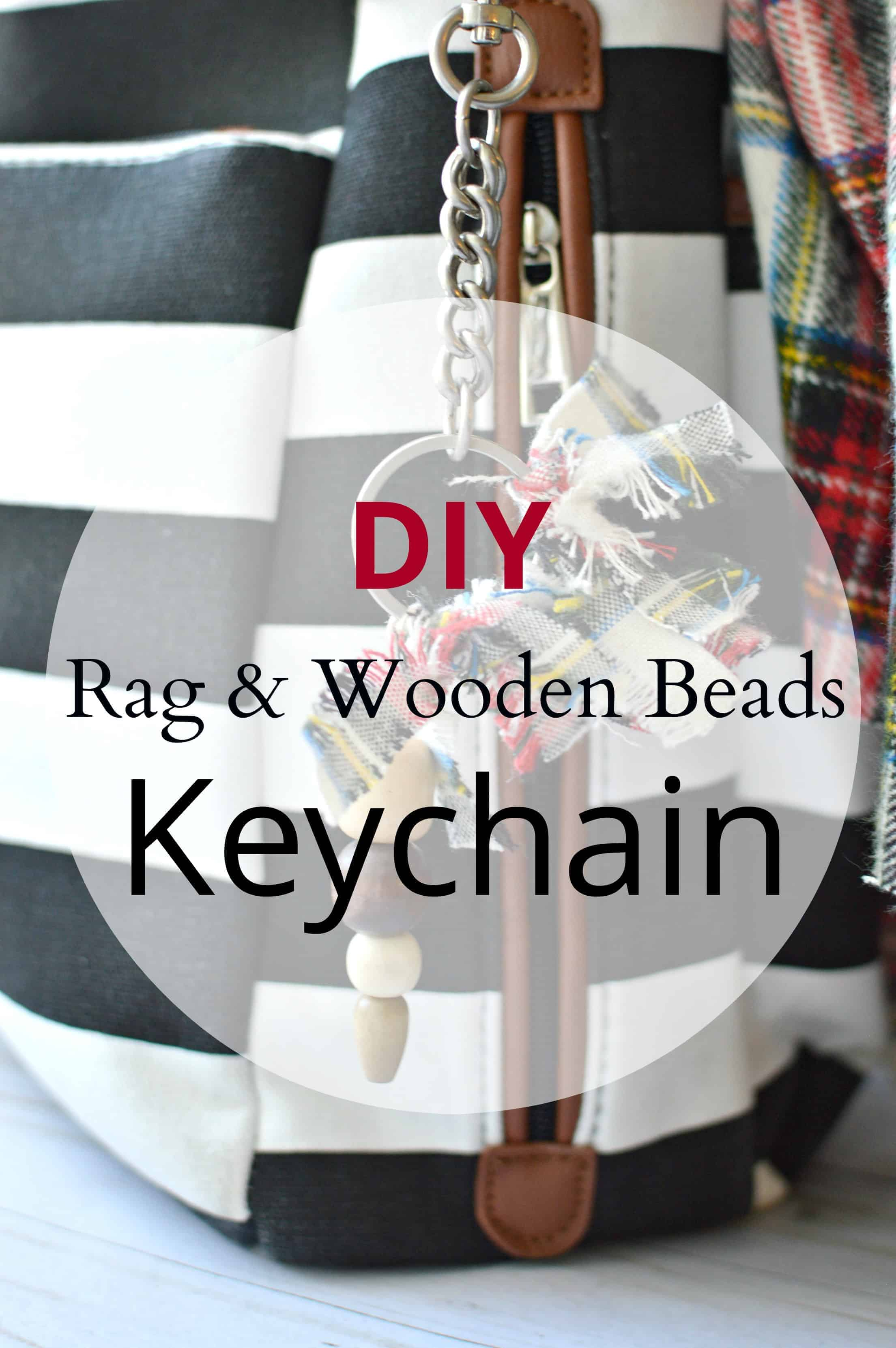 DIY Rag & Wooden Beads Keychain
