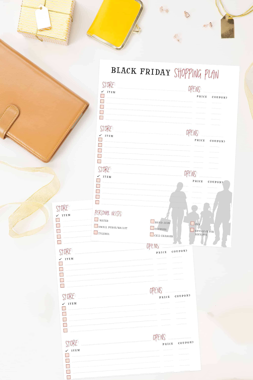 Free Black Friday Shopping Plan Printable