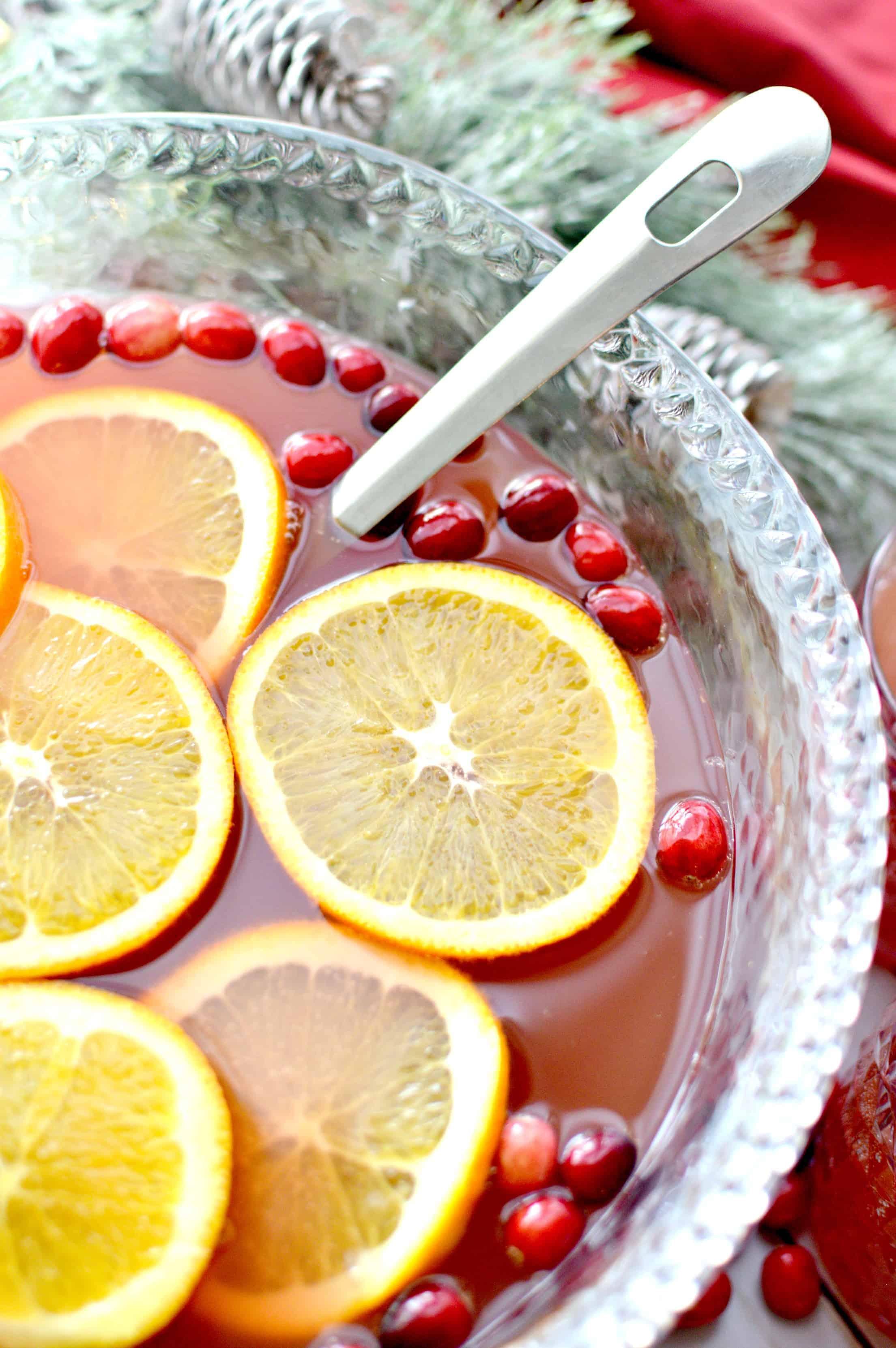 Orange & Cranberry Holiday Punch