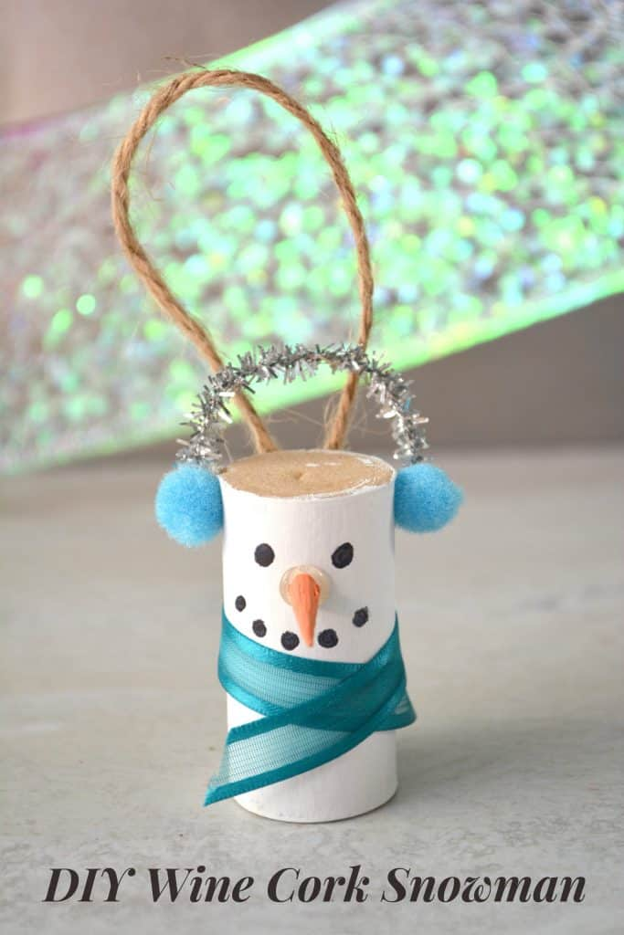 Wine Cork Snowman Ornament Easy Holiday Craft