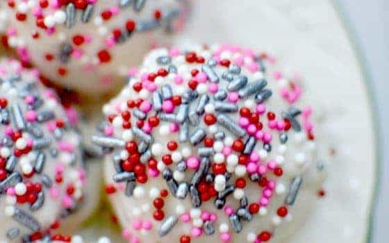Champagne & Strawberry Cake Balls