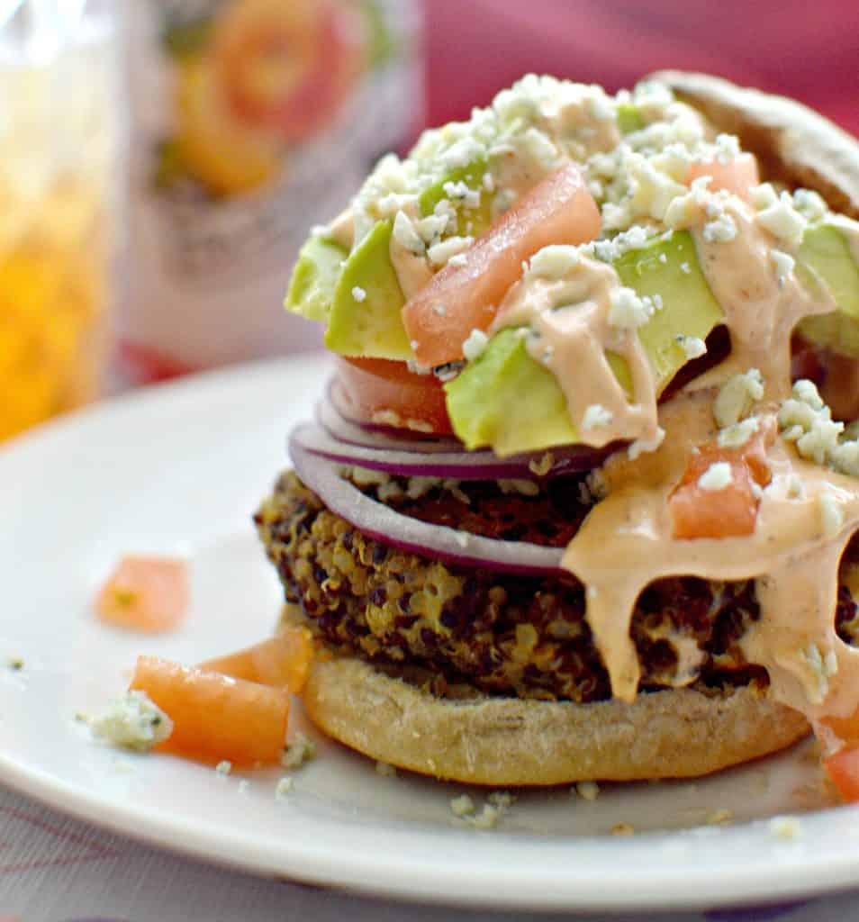 Blue Cheese & Avocado Quinoa Burger