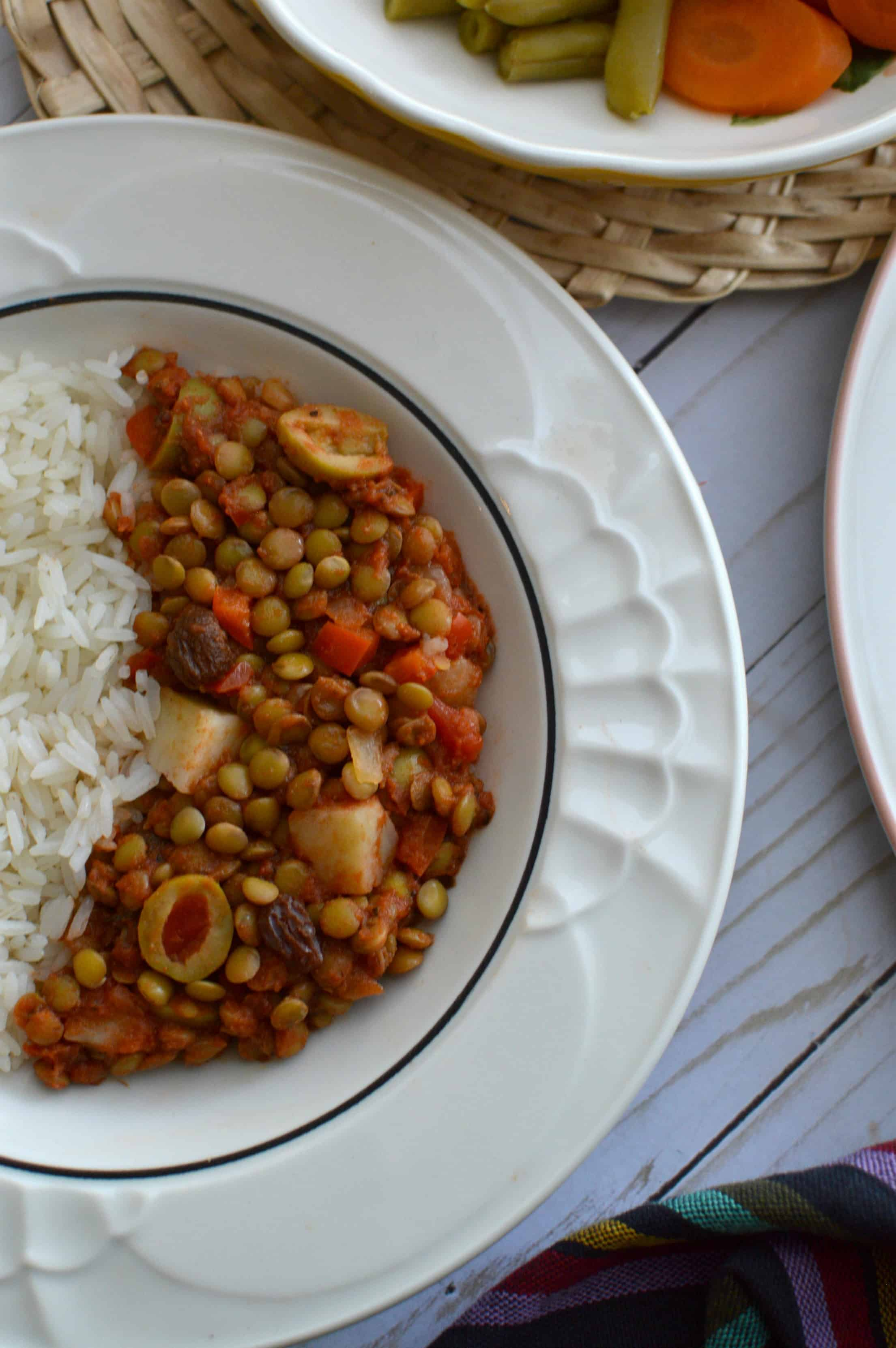 Vegan Picadillo Made With Lentils