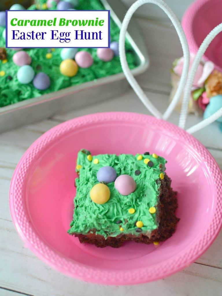 Caramel Brownie Easter Egg Hunt - Stylish Cravings