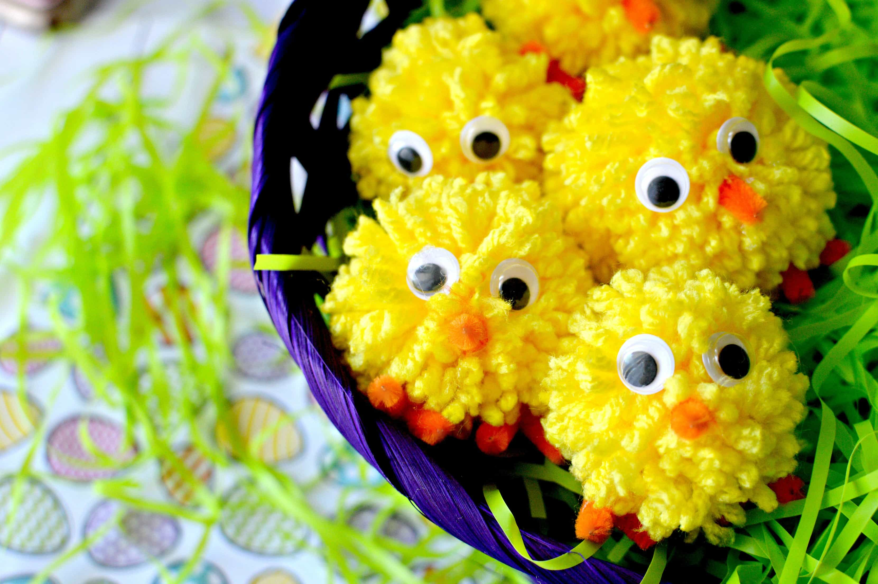 Easy DIY Pom Pom Chicks