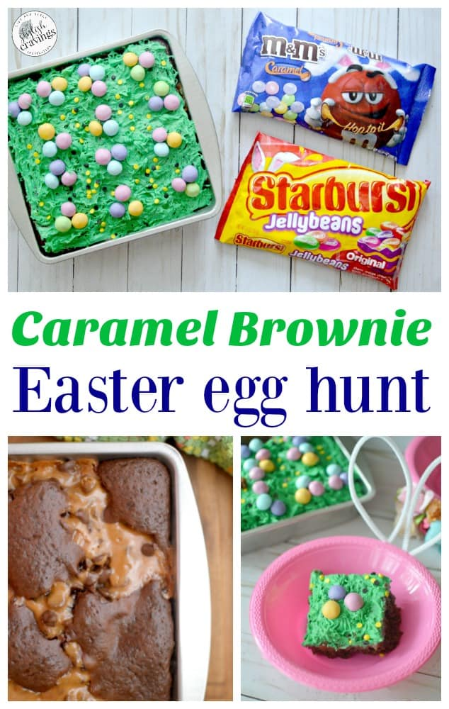 Caramel Brownie Easter Egg Hunt