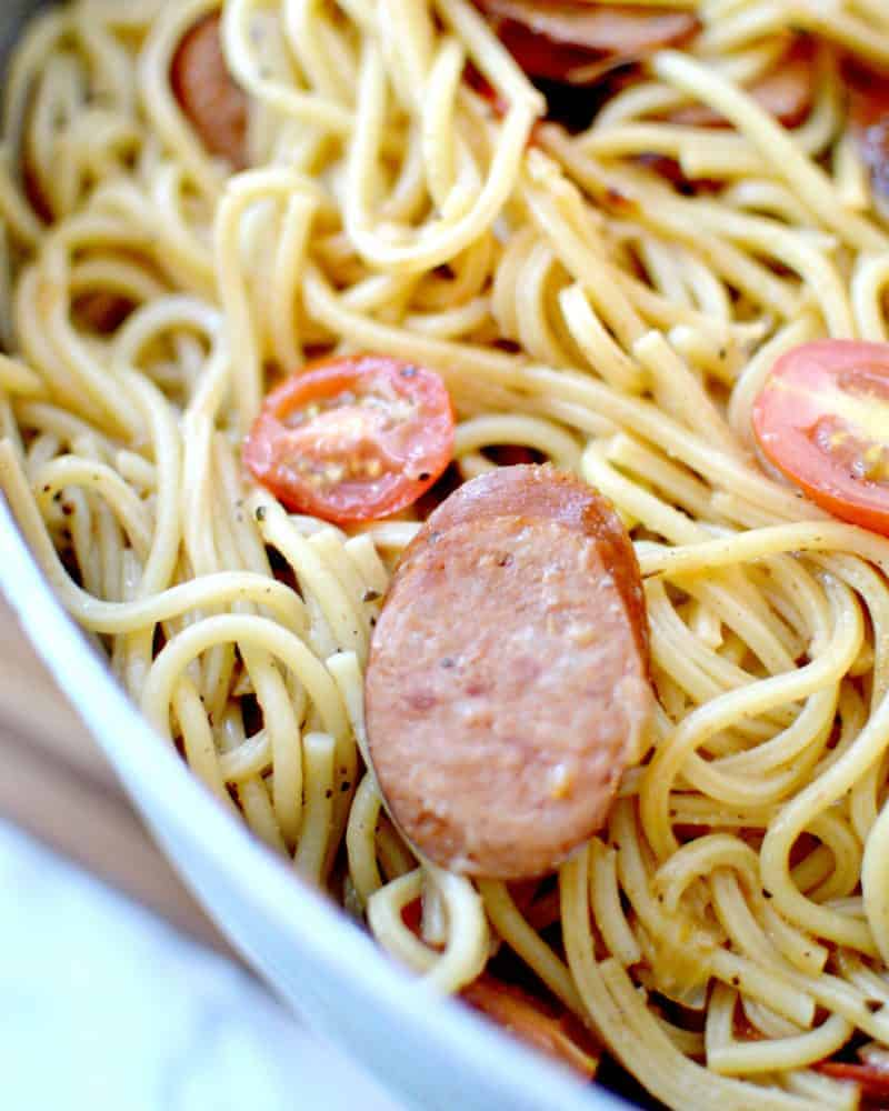 Spicy One Pot Sausage Pasta Recipe