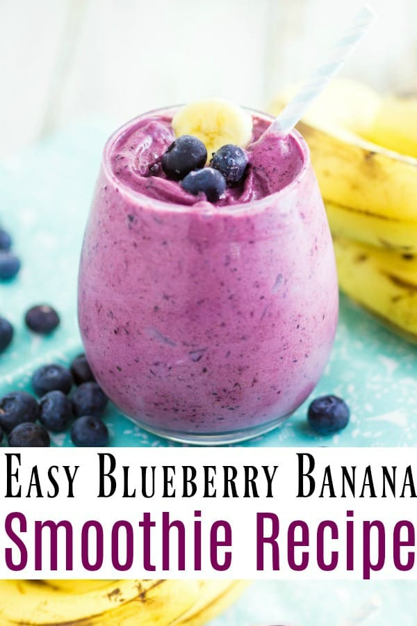 healthy and easy blueberry banana smoothie