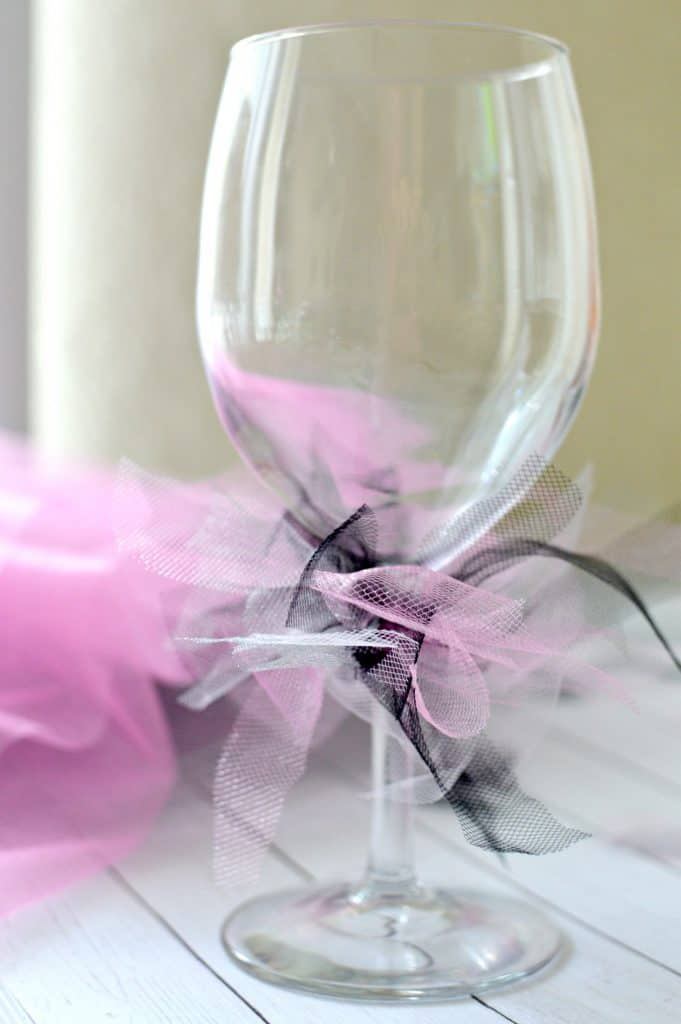 DIY Wine Glass Tutu Place Card Holders