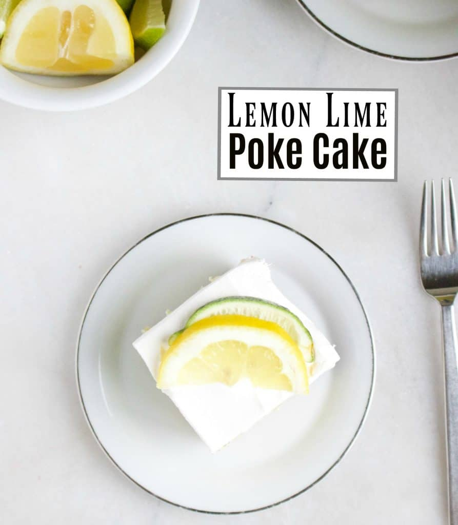 Easy To Make Lemon Lime Poke Cake