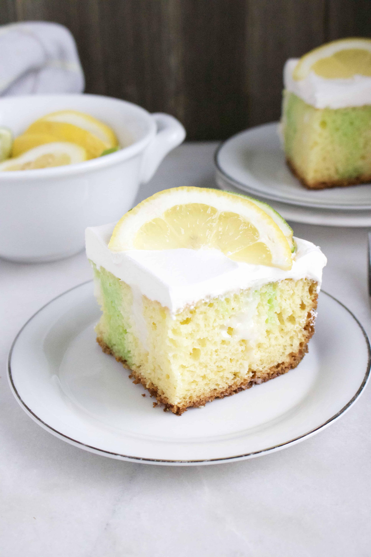 Easy To Make Lemon Lime Poke Cake