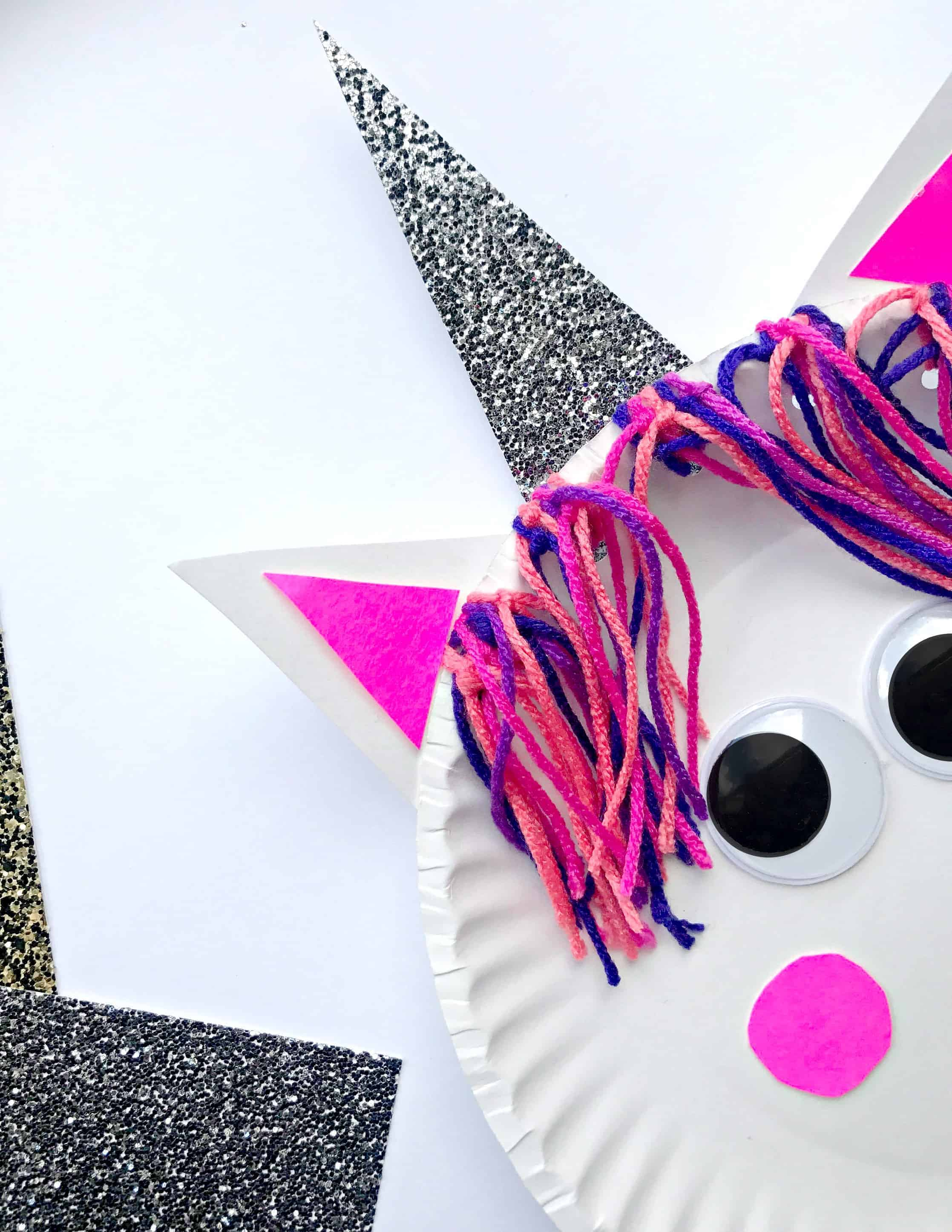 Paper Plate Unicorn Craft