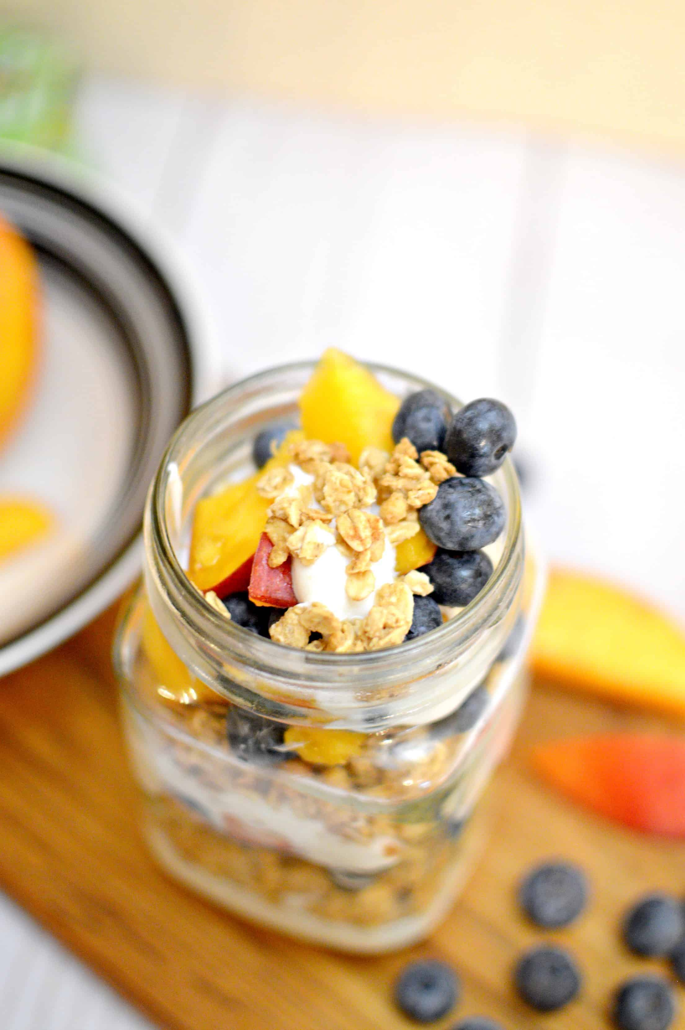 Easy Blueberry Peach Parfait Recipe