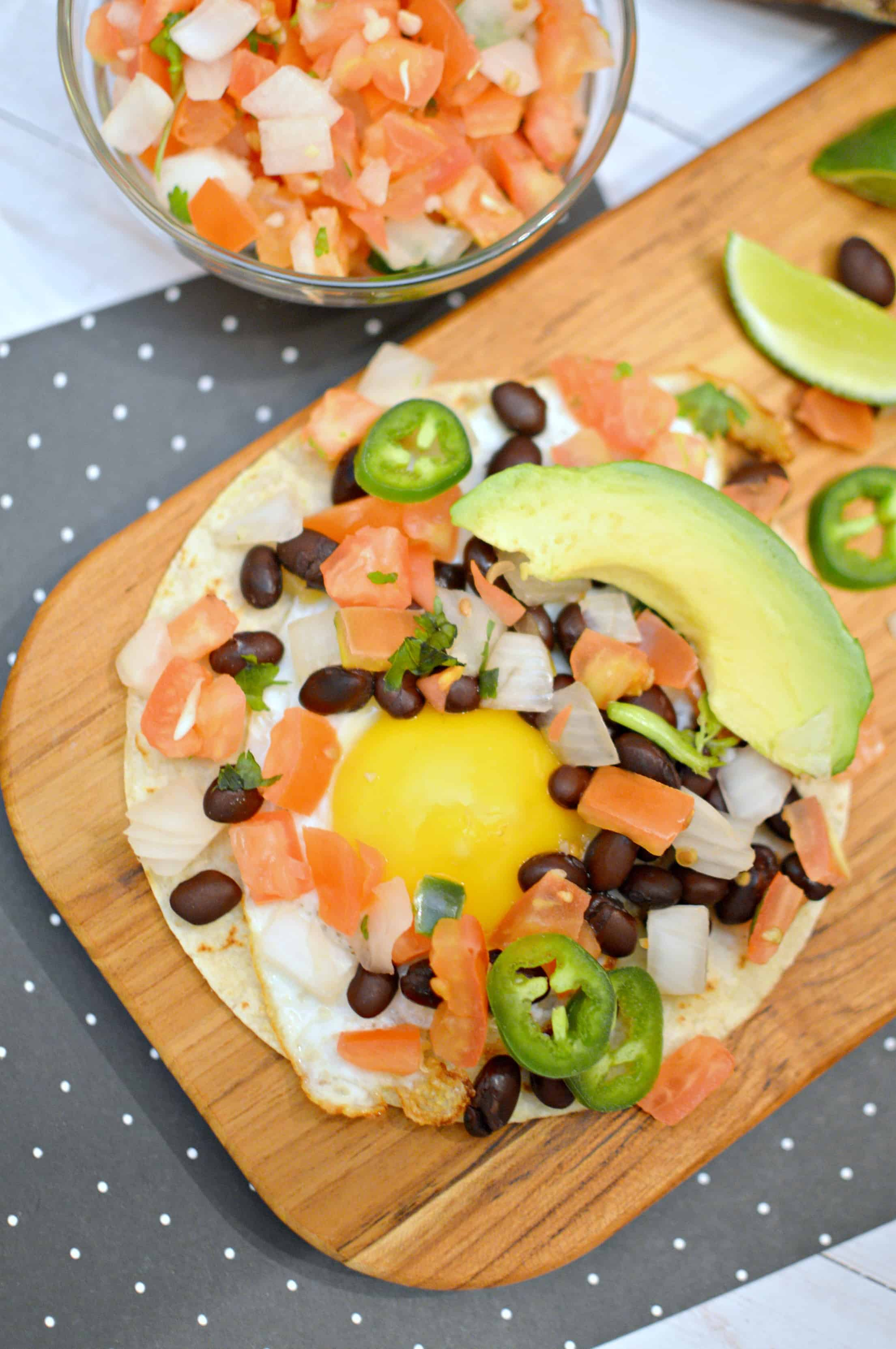 Black Bean Breakfast Taco