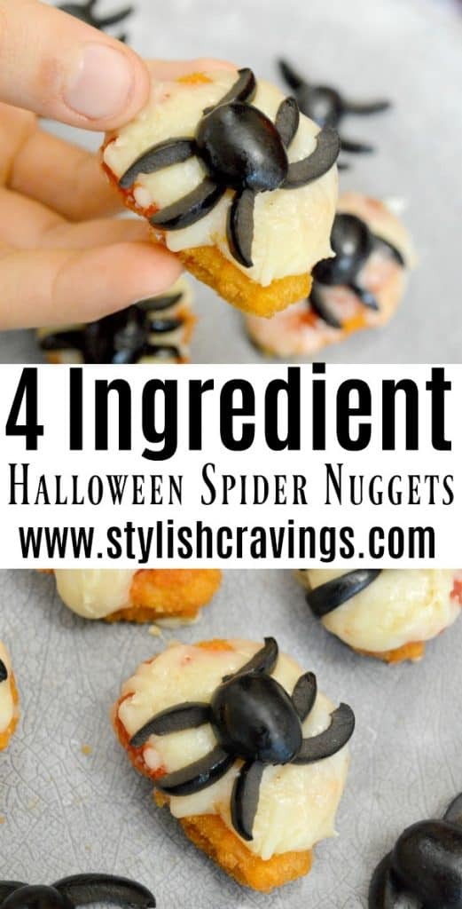 4 Ingredient Halloween Spider Nuggets