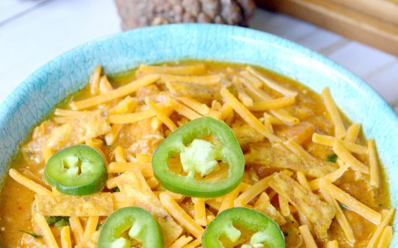 Creamy Pumpkin Chicken Chili