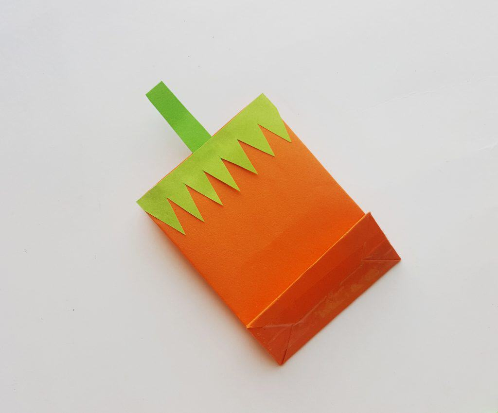 Easy Pumpkin Treat Bag Craft