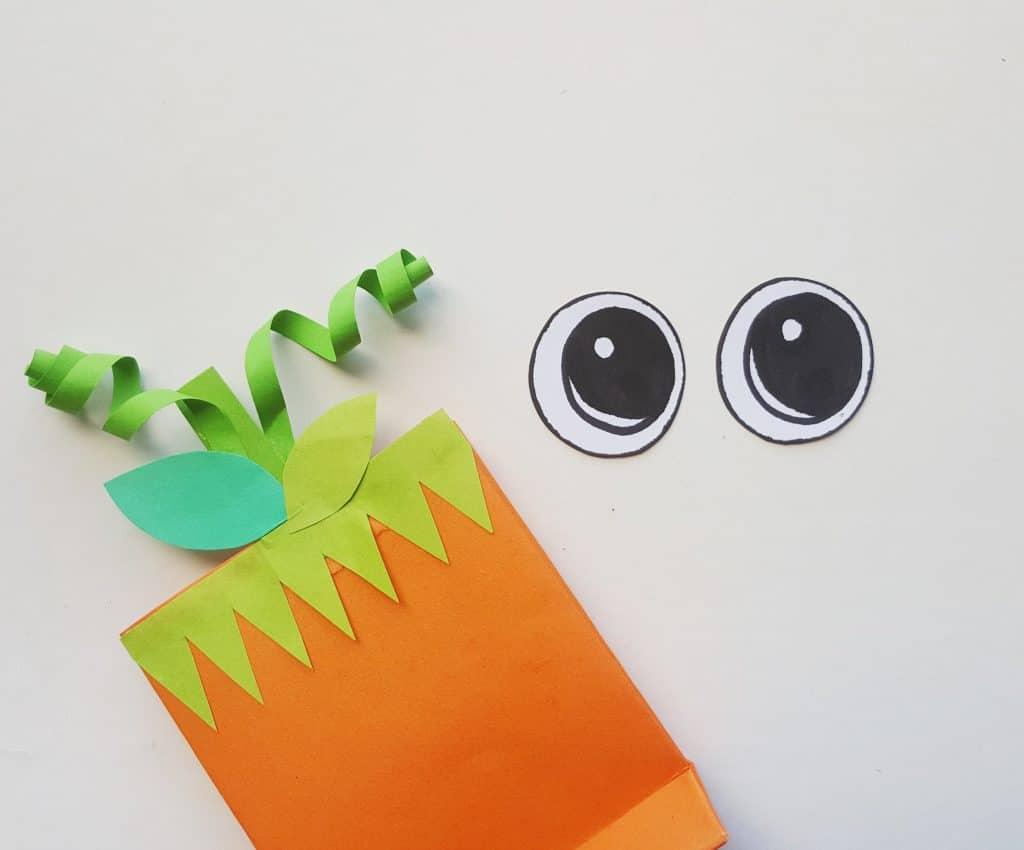 Easy Pumpkin Treat Bag Craft