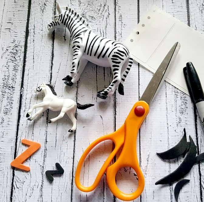 DIY Zebra Sensory Bin