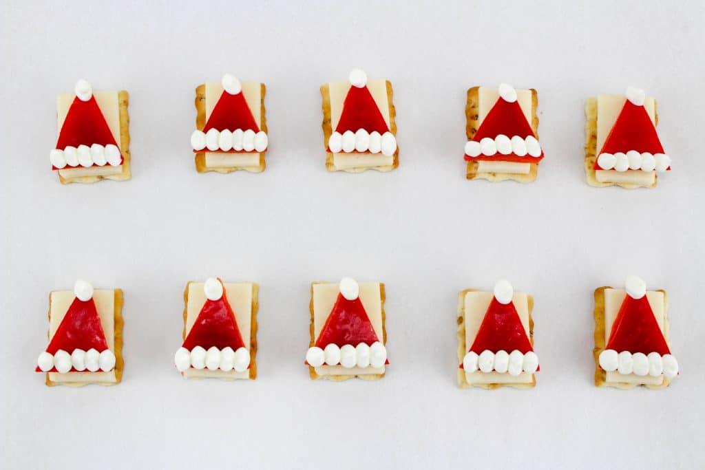Santa Hat appetizer